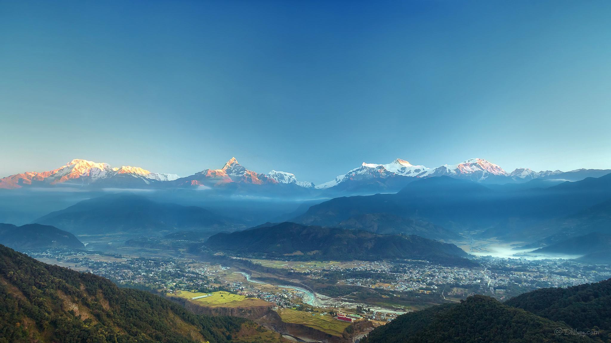 """Sarangkot Sunrise, Pokhara, Nepal"" by Dhilung Kirat"