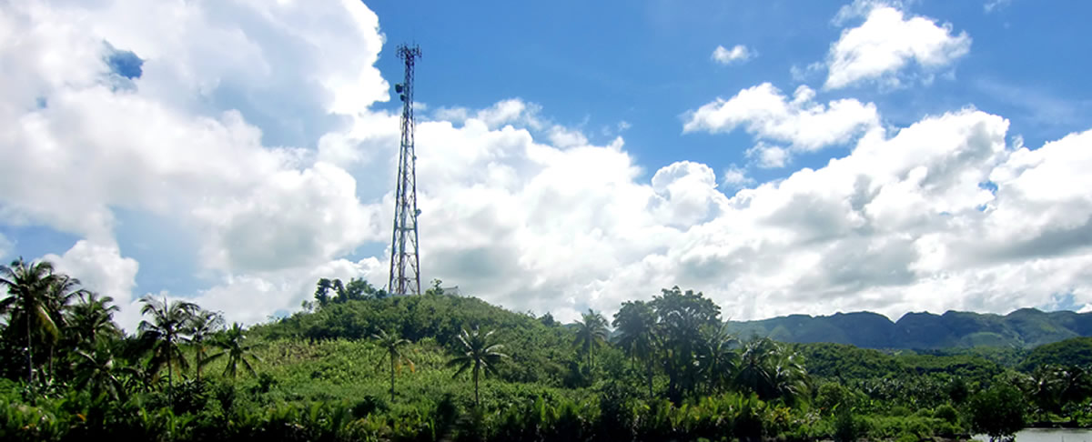 Cell tower in the Philippines
